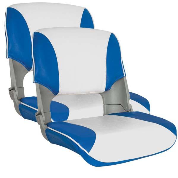 2 x Premium Folding Skipper Boat Seat